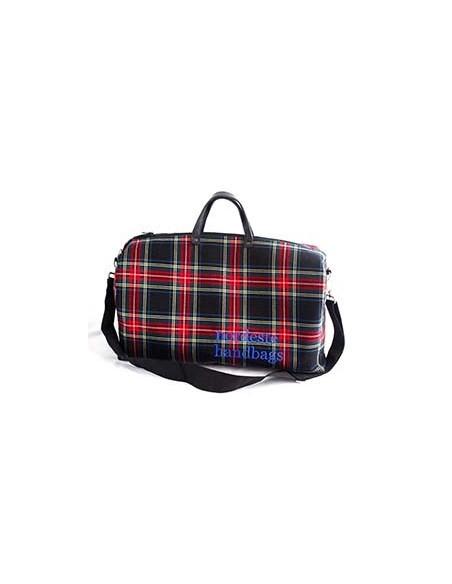 Bolsa Fin de Semana Escocés Negro