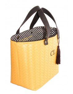 Shopper Trenza Mostaza