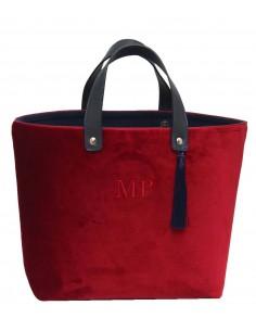 Shopper Terciopelo Rojo