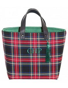 Shopper Escocés Negro