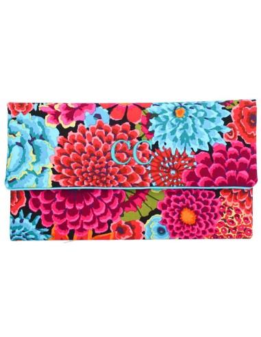 Clutch Flores Turquesas