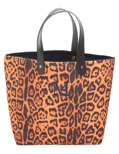 Shopper Leopardo Naranja